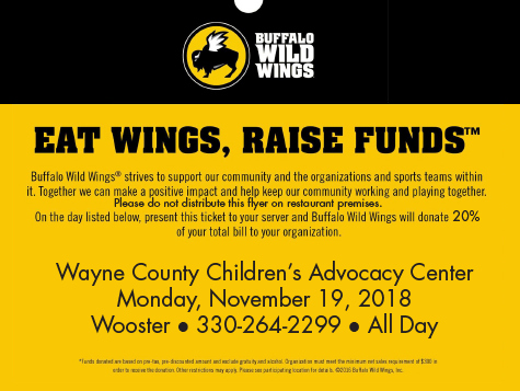 BW3 Eat Wings, Raise Funds